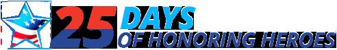 25 days of honoring heroes logo