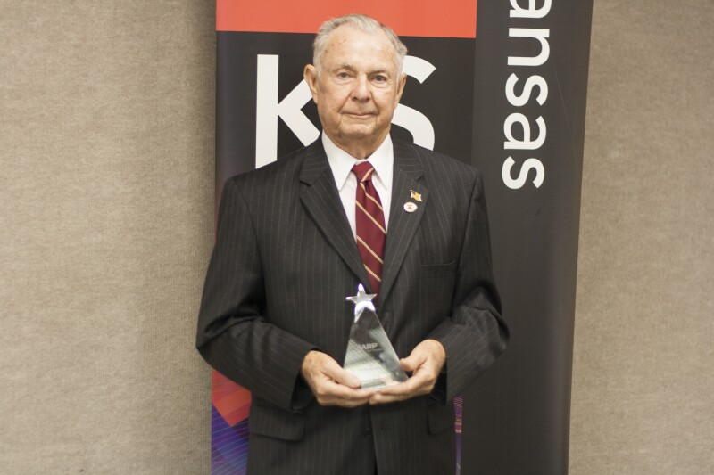 Bob Roberts with award 2015