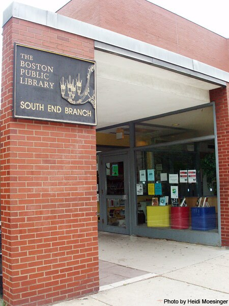 South End Branch Library, located at 685 Tremont Street