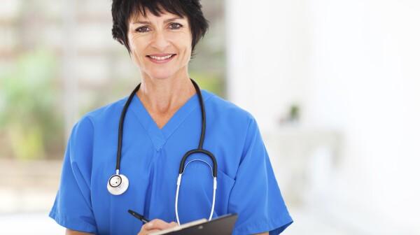 beautiful middle aged medical nurse