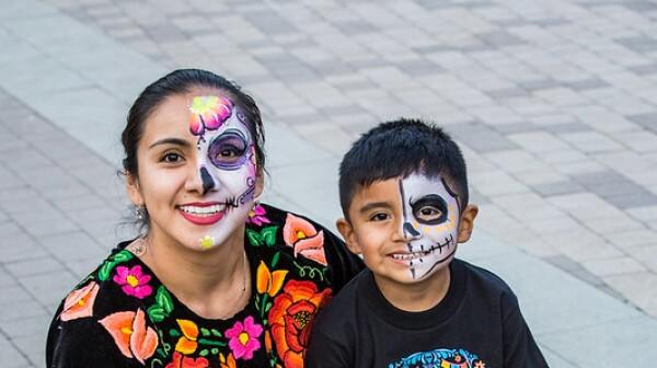 Mom and son with Dia de los Muertos face painting.jpg