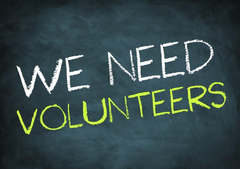 we need volunteers - chalkboard concept