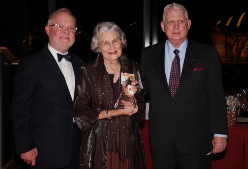 Billie Dougherty (center) 2012 AARP Arkansas Andrus State Award for Community Service recipient