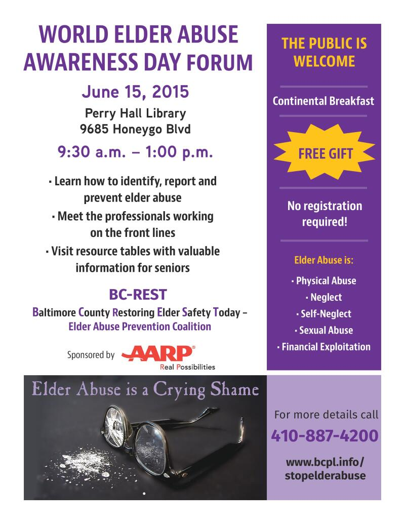 MD BC-REST Elder Abuse Rally 2015 flyer