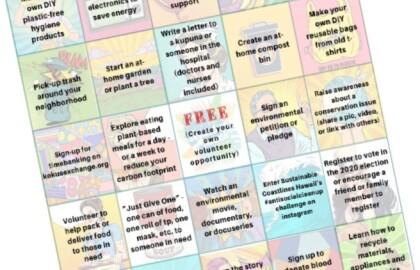 Have Fun, Help the Community with Virtual Volunteer Bingo