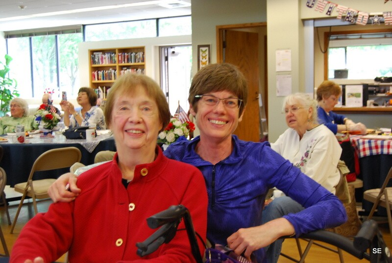 Katharine Wismer and mother at Issaquah Senior Center