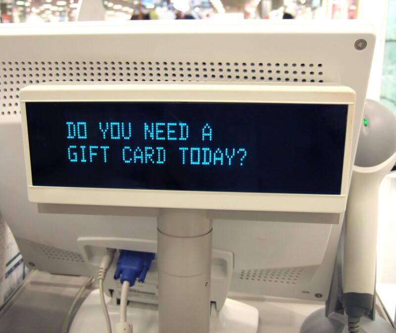 Cash register message