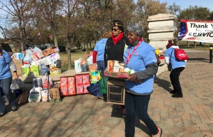 Trail Trekkers Veterans Day Hike and Food Drive was Huge Success