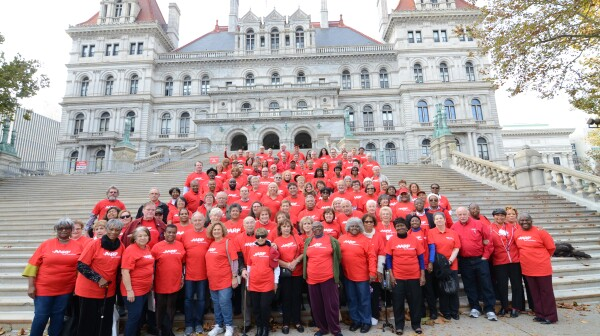 NYS Capitol steps with volunteers.jpg