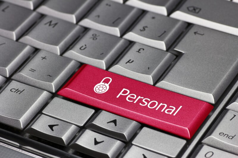 Computer key - personal with lock