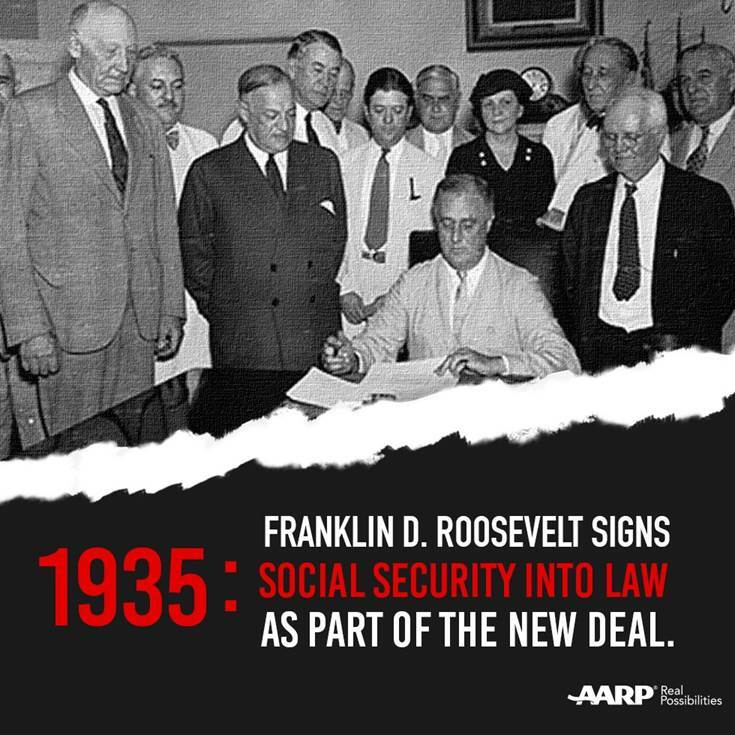 social security signed into law image
