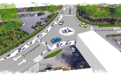 Beauty meets safety: WestWayne tactical urbanism project