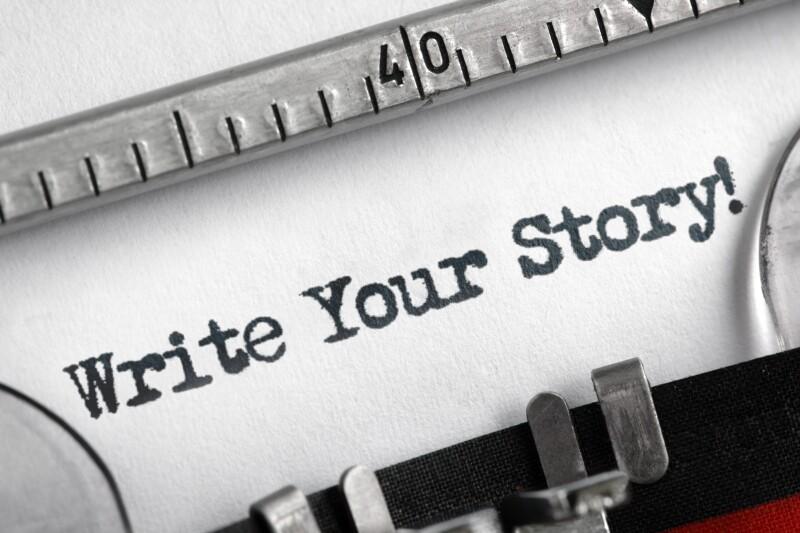 Write your story written on typewriter
