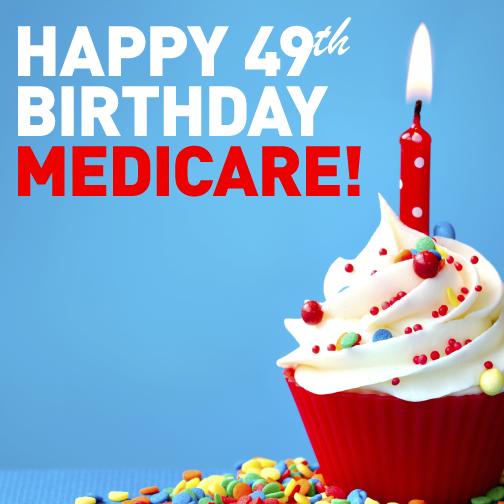 Happy Birthday Medicare Graphic