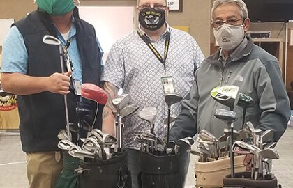 Sheridan Action Team Donates Golf Clubs To Veterans