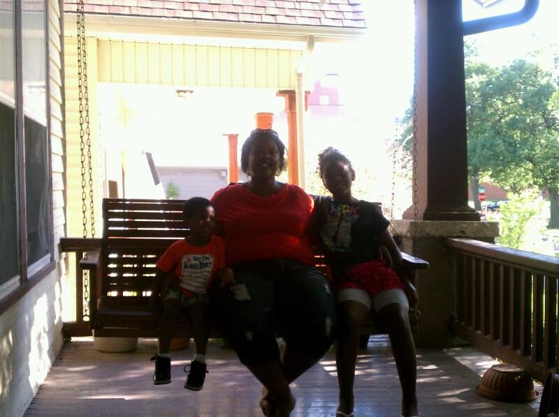 Annette and grandkids