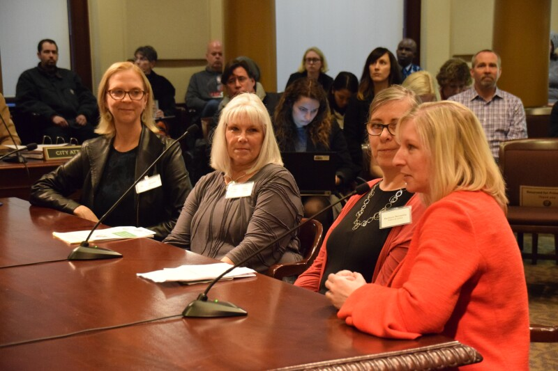city hall remarks AGC Joyce, Margaret, Barbara and Heather