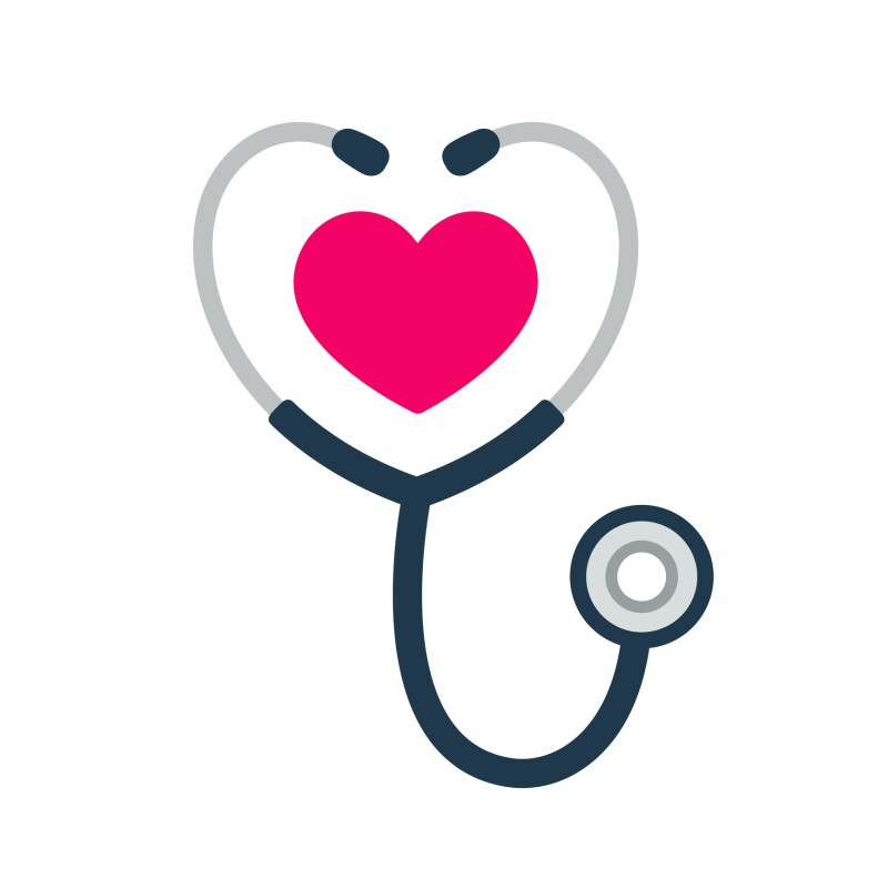 Stethoscope heart icon