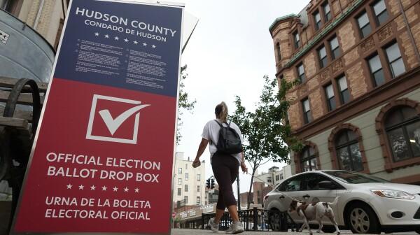 Election Ballot Drop Box in Hoboken, New Jersey