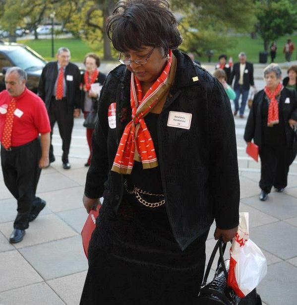 AARP Texas volunteers at the Texas Capitol