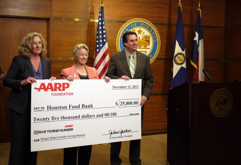 Houston Food Bank donation