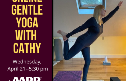 Online Gentle Yoga with Cathy -- 4.21.21