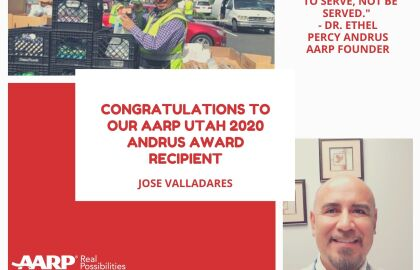 AARP Utah Recognizes Jose Valladares for his Dedication & Commitment to Community Service with its…