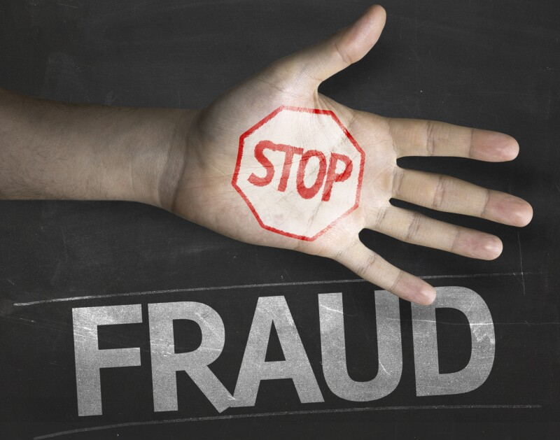 Educational and Creative composition with the message Stop Fraud