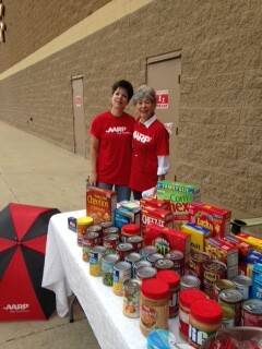 Susan Payes and Linda at Richmond GSC food drive