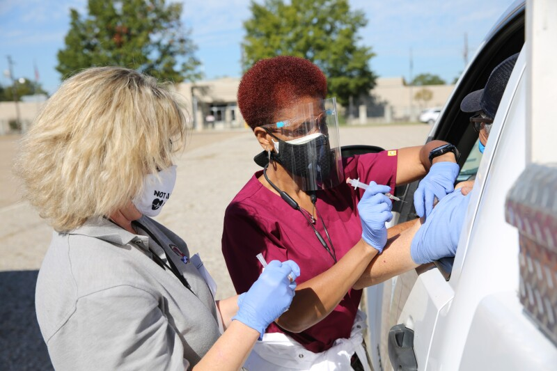Mass Covid Vaccination Gets A Dry Run An A Louisiana Parking Lot