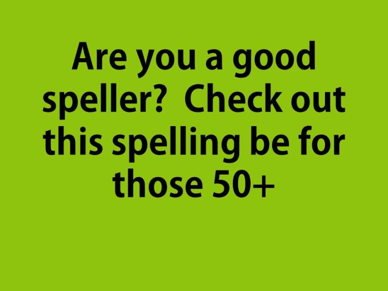 Are you a good speller