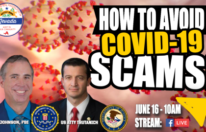 AARP Nevada Podcast Special: Preventing COVID-19 Scams with US Attorney Nicholas Trutanich and FBI Assistant Special Agent in Charge Ray Johnson