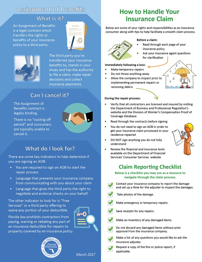 Assignment of Benefits Infographic