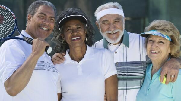 Seniors on the Tennis Court