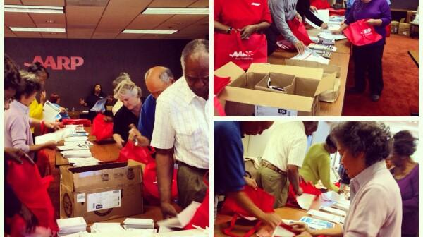Volunteers prepping for Work@50+
