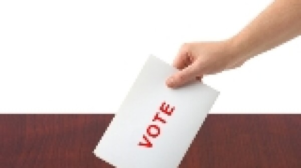 Ballot Box Vote Hand E-Update