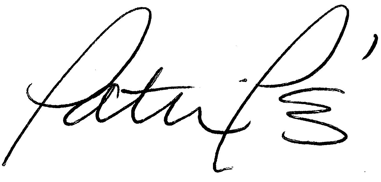 Patricia Pérez Signature