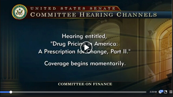 Hearing Drug Pricing in America