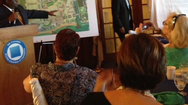 Governor Kenneth E. Mapp addresses St. Croix Chamber of Commerce