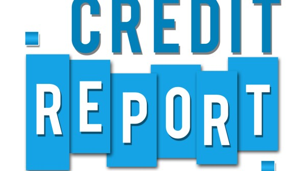 Credit Report Blue Stripes