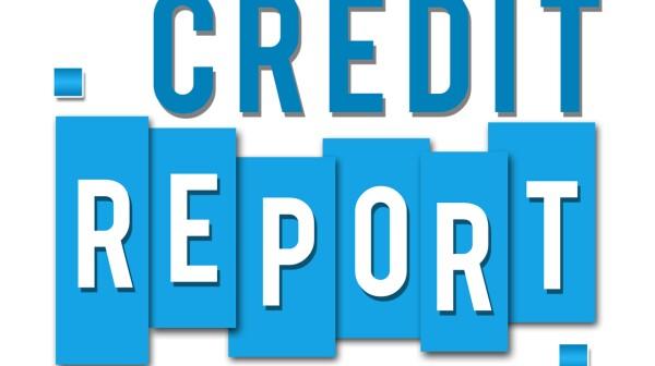 Credit Report Blue Stripes