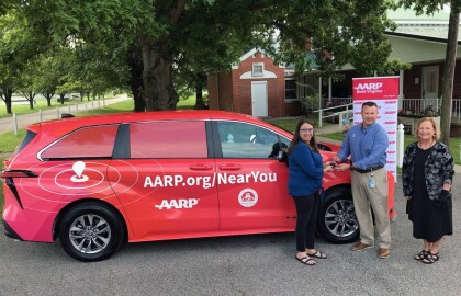 AARP WV, Toyota Collaborate on Providing Vehicle to Putnam Aging for Vaccine Outreach Efforts