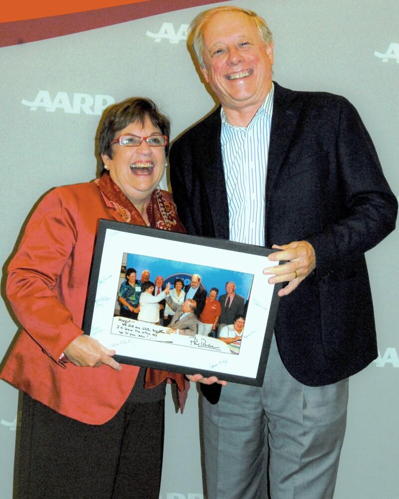AARP National Volunteer Director Margot Seay and former TN Gov. Phil Bredesen