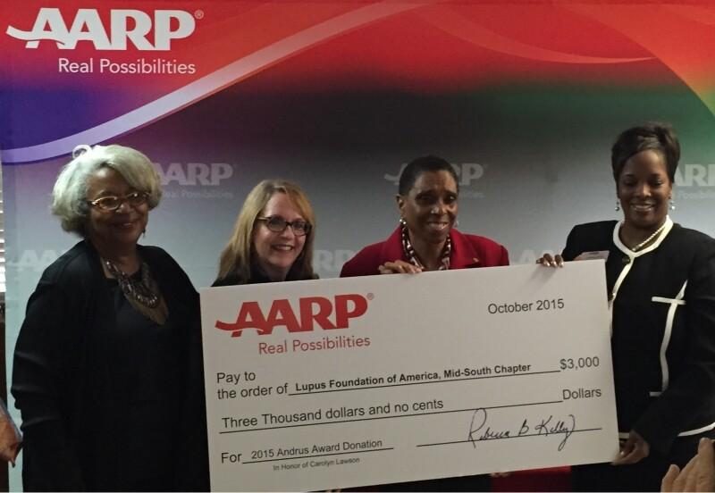 AARP TN Andrus Award check presentation