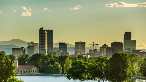 Denver Skyline at Sunset