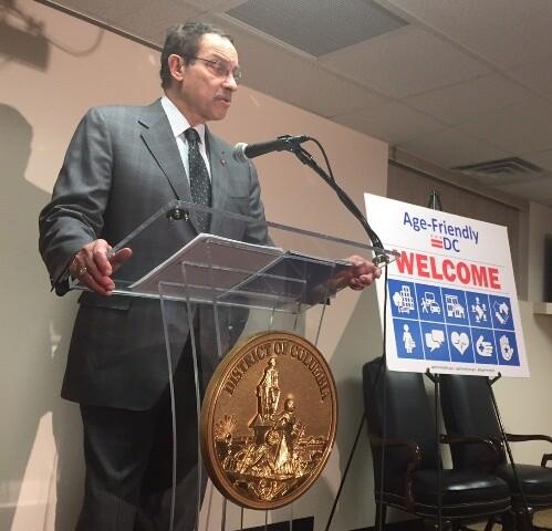Mayor Gray at Podium - resized