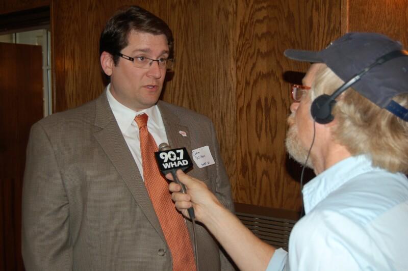 Sam interviewed by public radio