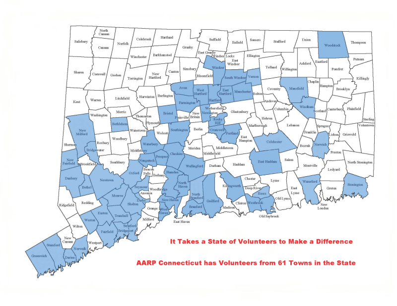 CT State map - volunteers