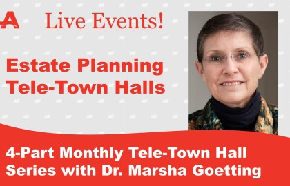 AARP Montana hosts Tele-Town Hall series on estate planning with Dr. Marsha Goetting