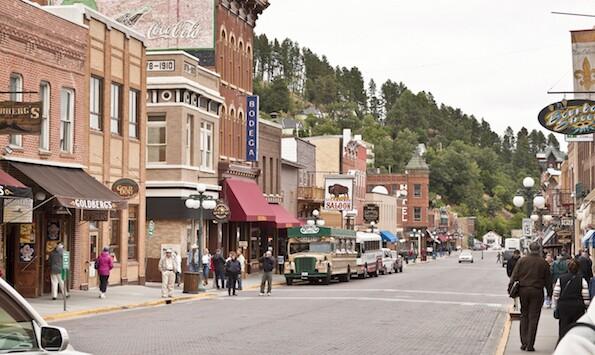 Upper Main Street in Deadwood, South Dakota